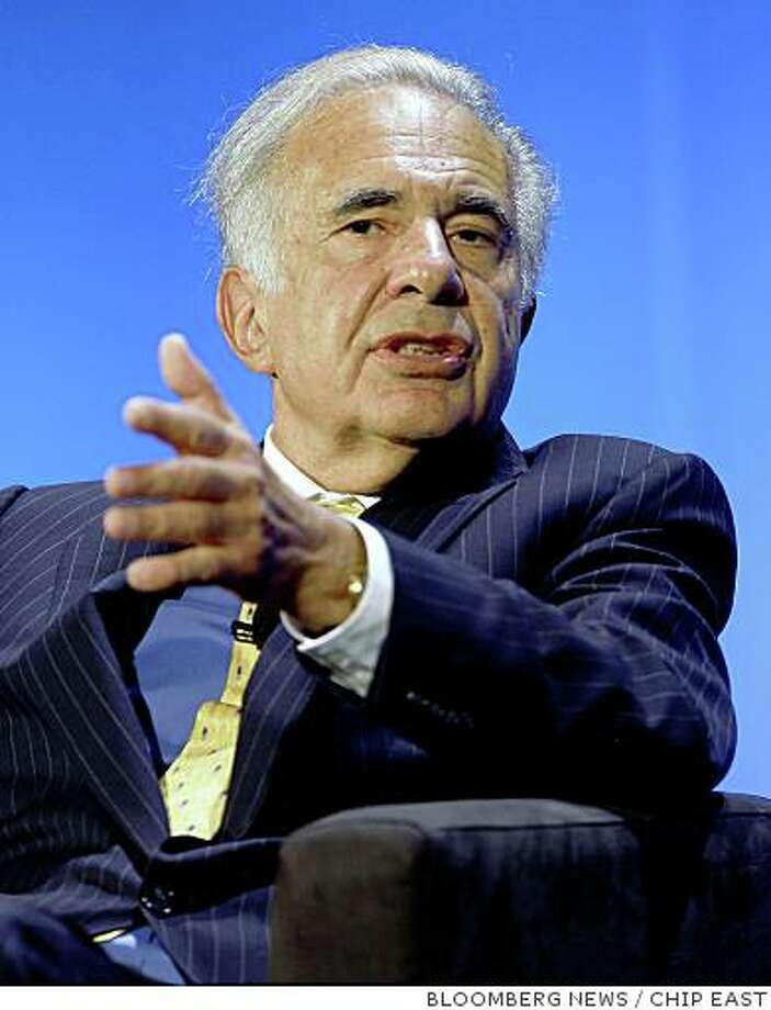 In a letter to shareholders Thursday, Yahoo CEO Jerry Yang and Chairman Roy Bostock, called Carl Icahn a ?corporate agitator? who can?t make up his mind about what to do with the company.Carl Icahn, a billionaire investor, speaks during the World Business Forum in New York, U.S., on Thursday, Oct. 11, 2007. Icahn said he was concerned that stocks may be reaching a peak, as risks to the U.S. economy remain after the Federal Reserve's Sept. 18 rate cut. Photographer: Chip East/Bloomberg News Photo: CHIP EAST, BLOOMBERG NEWS
