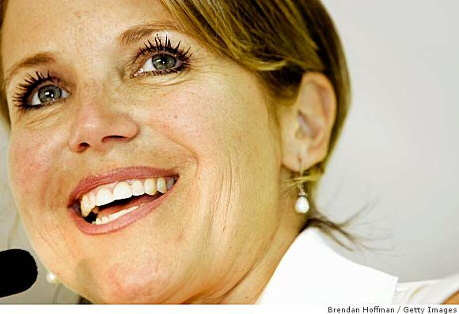 CBS Evening News anchor Katie Couric receives the Alice Award from the Sewall-Belmont House & Museum June 10, 2008 in Washington, DC. The Alice Award is named for suffragist Alice Paul. Photo: Brendan Hoffman, Getty Images