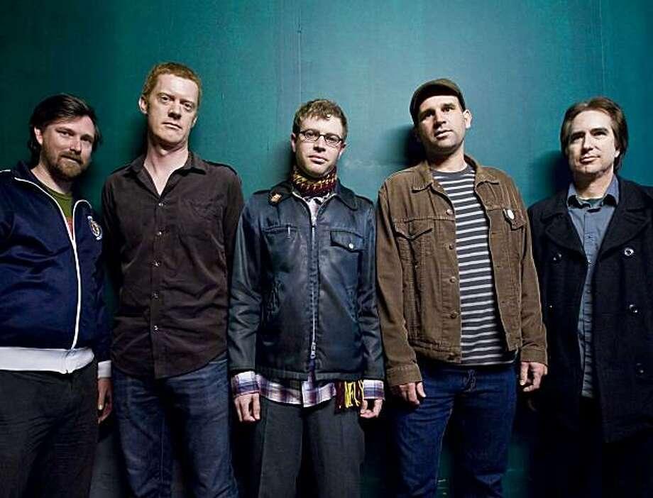 Bye Bye Blackbirds: Ian Robertson (from left), Michael Derrick, Bradley Skaught, Aaron Rubin, Lenny Gill. Photo: Michael Kenny