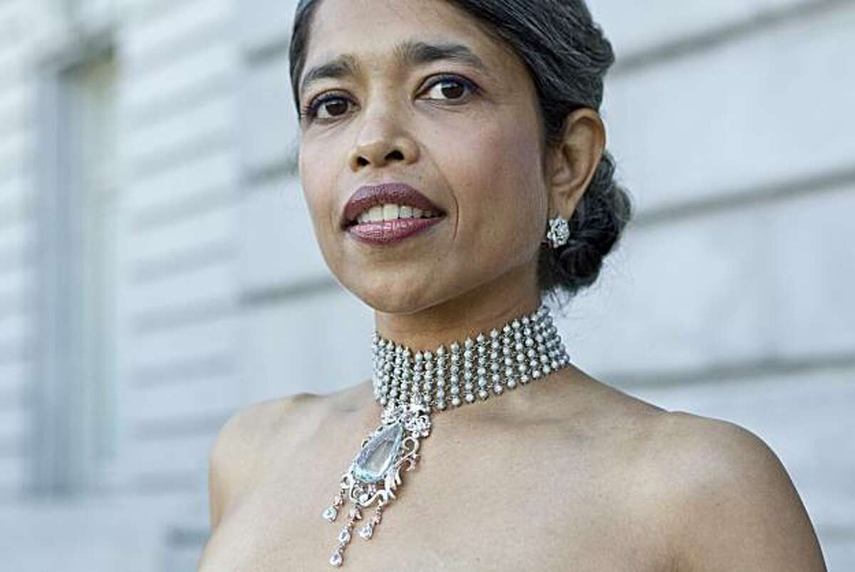 Deepa Pakianathan arrives at the San Francisco Opera opening night gala in San Francisco, Calif., on Friday, August 10 , 2010. Her necklace is by San Francisco jeweler Rosalina.