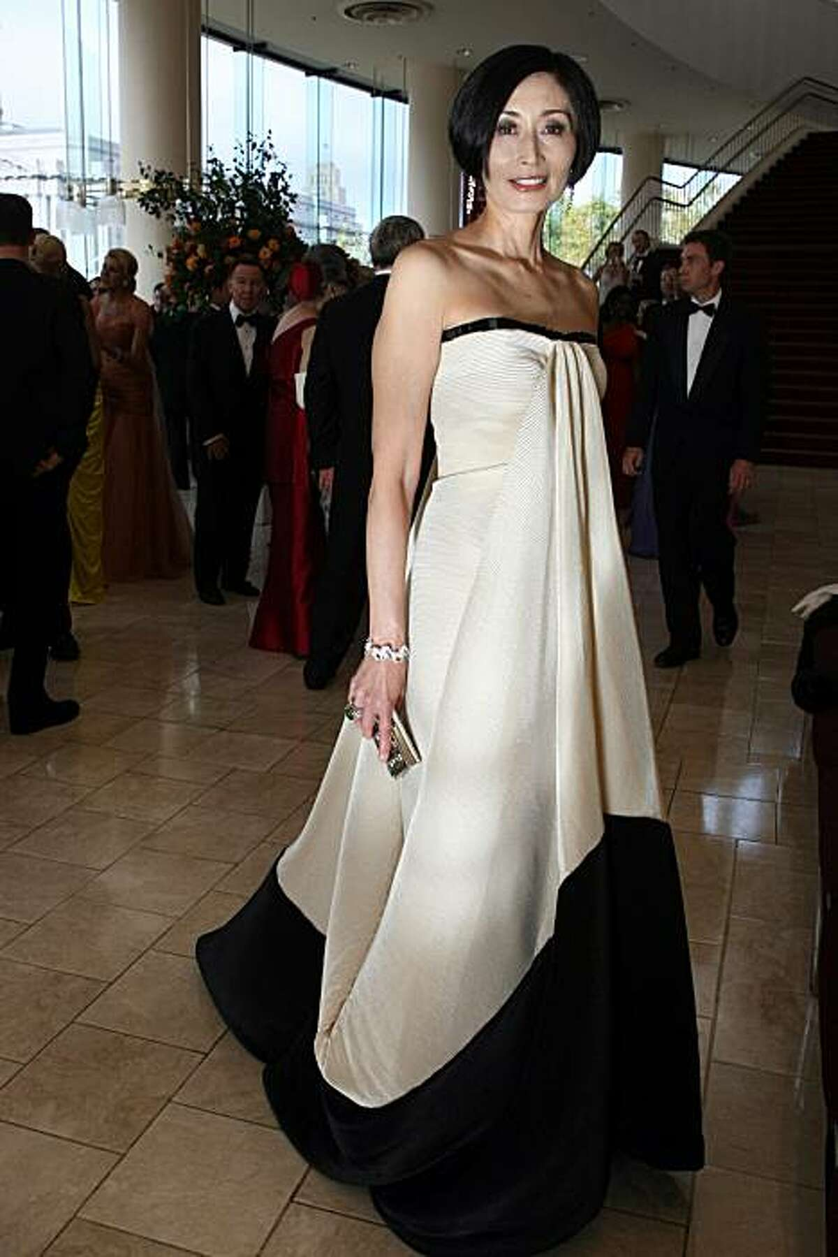 Yurie Pascarella, wears a dress by Gianfranco Ferre to the Symphony Gala Tuesday evening, September 7, 2010.