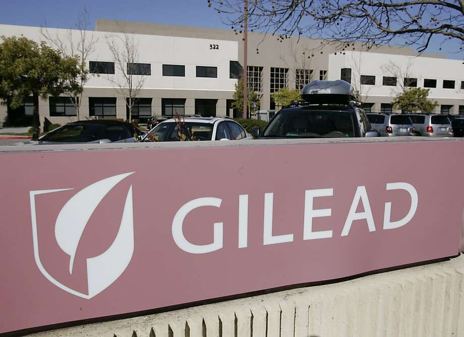 Gilead Sciences Inc. headquarters in Foster City, Calif., is seen Thursday, March 12, 2009. Biotechnology company Gilead Sciences Inc. said Thursday it will buy CV Therapeutics for about $1.4 billion as a wave of consolidation in the drug industry continues. (AP Photo/Paul Sakuma) Photo: Paul Sakuma, AP