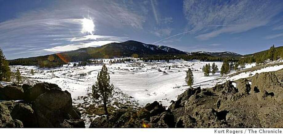 (This is a composite photograph compiled of 5 images put together) Perazzo Meadows, that is North of Truckee, and close to Sierraville it�s a 982-acre wetlands area it�s the latest jewel to be purchased by Trust for Public Land. The Trust is launching an aggressive campaign to buy as much as 50,000 that would be preserved as public land.. on Wednesday Jan 14,  2009 in Sierraville , Calif Photo: Kurt Rogers, The Chronicle