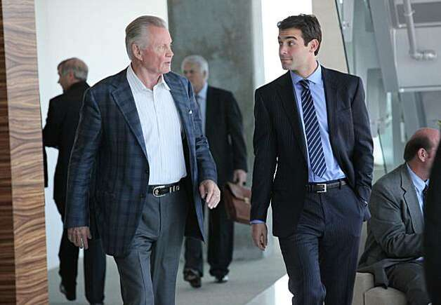 "Jon Voight, left, and James Wolk perform a scene in the Fox TV series, ""Lone Star"". (Bill Matlock/FOX/MCT) Photo: Bill Matlock, MCT"