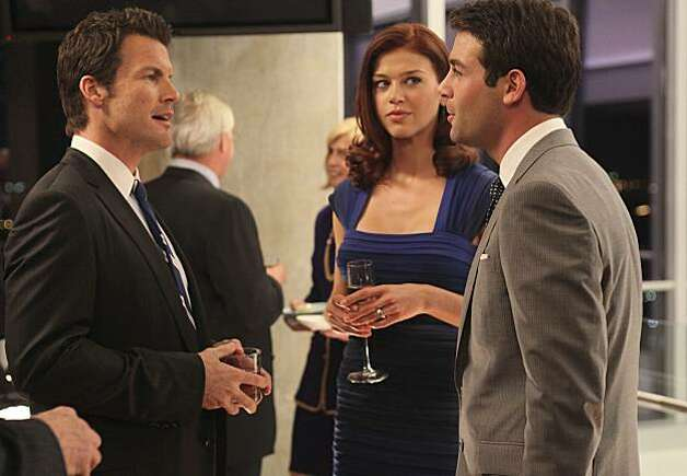 "In this publicity image released by Fox, from left, Mark Deklin, Adrianne Palicki and James Wolk are shown in the series premiere of ""Lone Star,"" a new drama airing Monday, Sept. 20, 2010, at 9:00 p.m. EST. Photo: Bill Matlock, AP"