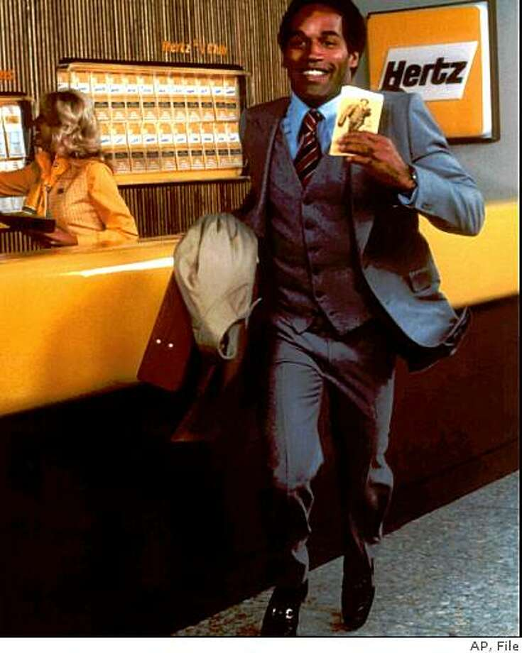 O.J. Simpson is seen in this Hertz advertisement. Photo: AP, File