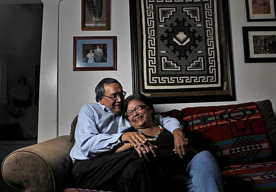 Martin and Helen Waukazoo, sit on the couch at their home, Wednesday Sept. 15, 2010, in San Leandro, CAlif. Photo: Lacy Atkins, The Chronicle