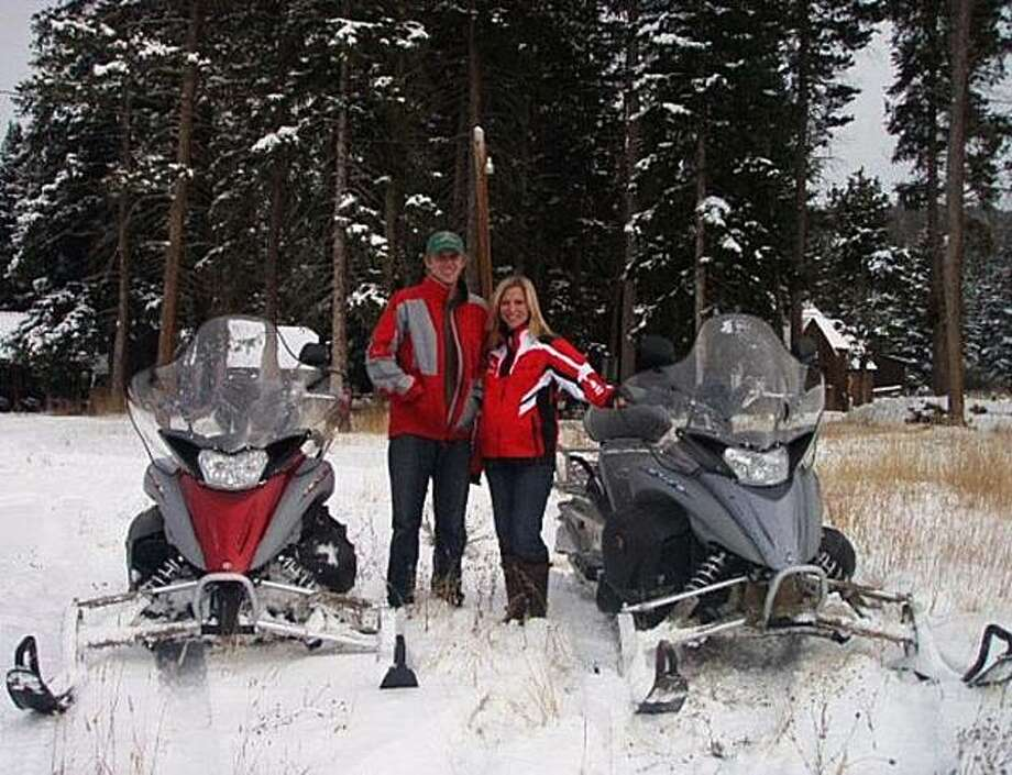 Chip Besse, owner of Grand Adventures LLC, poses with his wife in this undated handout photo provided to the media on Friday, Sept. 12, 2010. Besse got an $850,000 loan from Collegiate Peaks Bank of Salida, Colorado to start his snowmobile tours and rentals business.  Source: Chip Besse via Bloomberg EDITOR'S NOTE: EDITORIAL USE ONLY. NO SALES. Photo: Chip Besse, Bloomberg