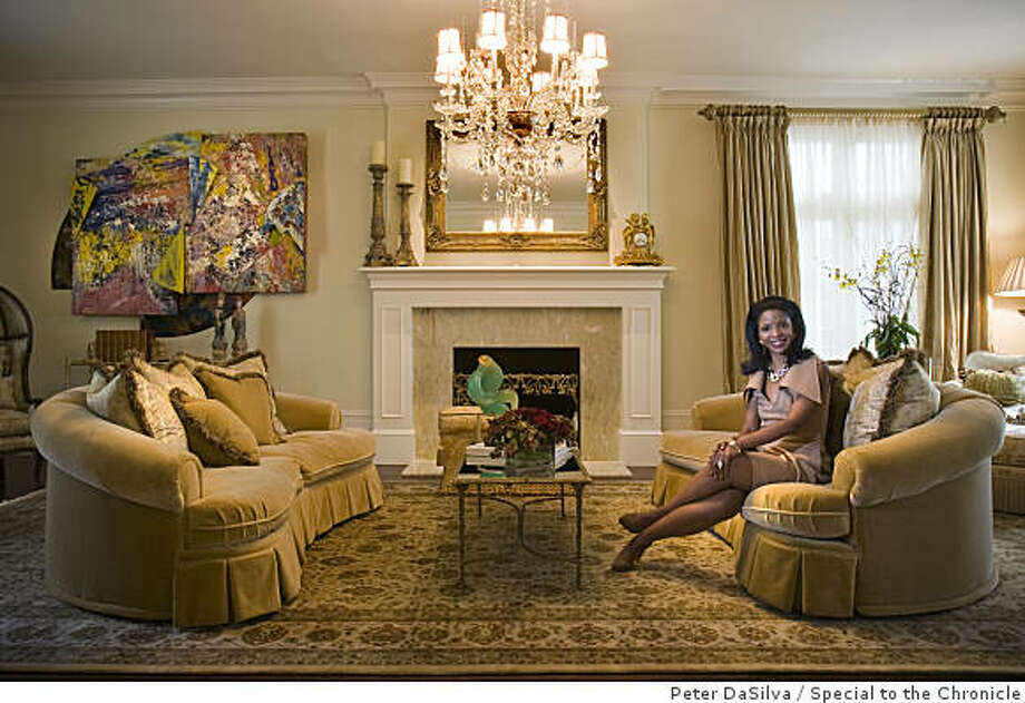 Pamela Joyner in her living room of her Presidio Terrace home in San Francisco, California, Sept. 09, 2008.Photo By: Peter DaSilvaSpecial to the Chronicle Photo: Peter DaSilva, Special To The Chronicle