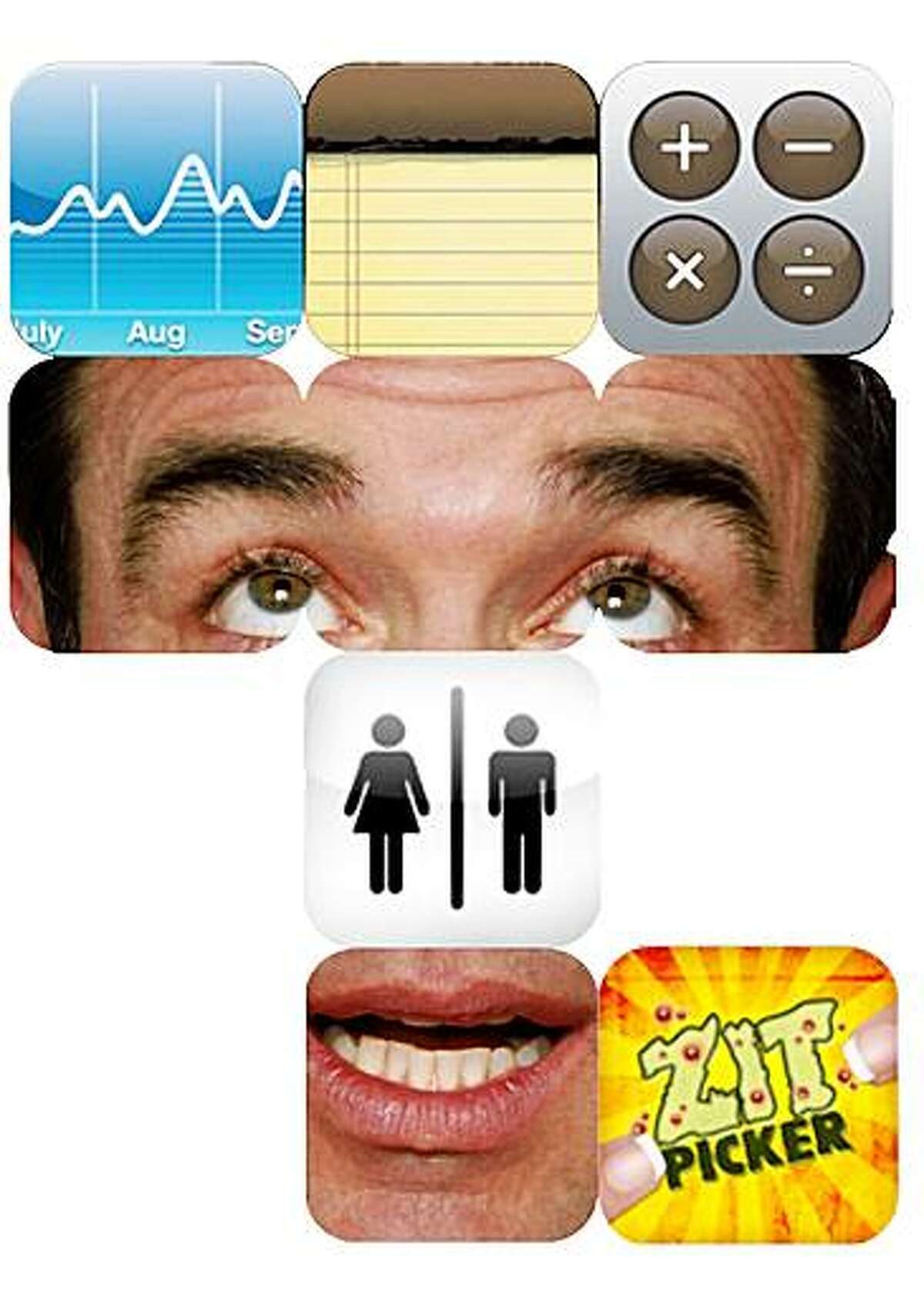 illustration for apple iphone app store selling inane apps by tracy cox