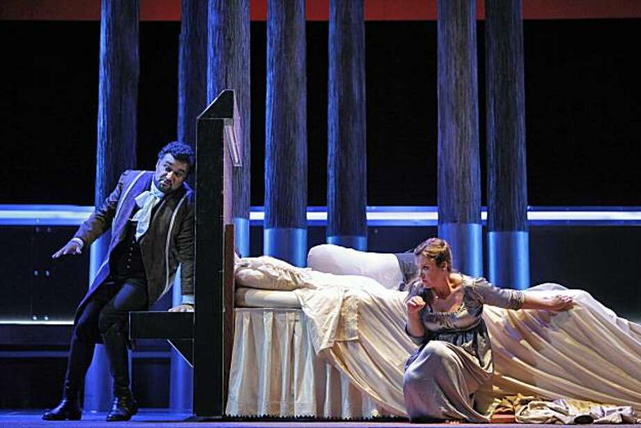 "Ram—n Vargas (Werther) and Alice Coote (Charlotte) appear in a scene from, ""Werther."" Photo: Cory Weaver, SF Opera"