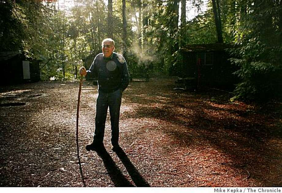 Lee McCann, volunteer with the Boy Scouts of America, walks through redwood laden grounds of Camp Masonite Navarro on Monday Dec. 22 ,2008 in Navarro, Calif. Photo: Mike Kepka, The Chronicle