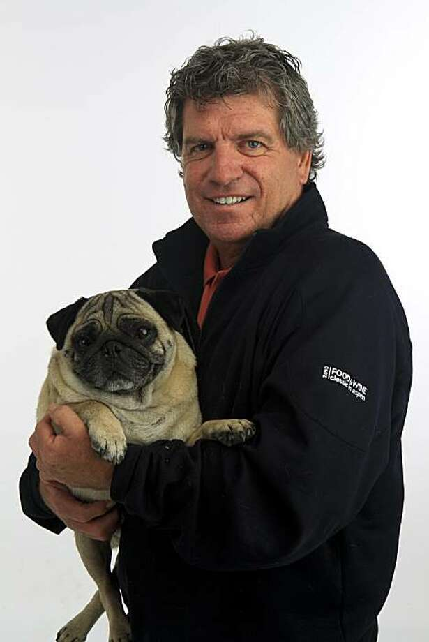 "Winemaker Gary Franscioni is pictured with his pug, ""Tiger,"" on Tuesday, Aug. 31, 2010 in San Francisco, Calif. Photo: Russell Yip, The Chronicle"