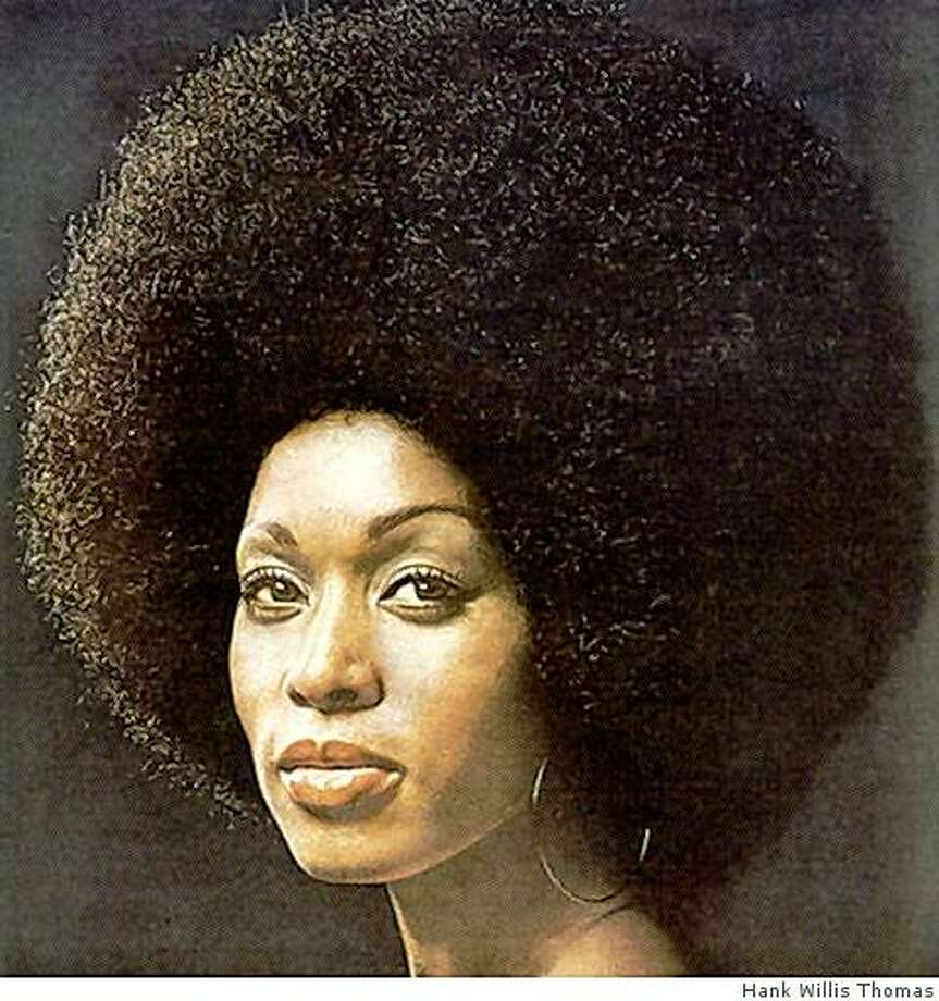 """Who Can Say No to a Gorgeous Brunette? by Hank Willis Thomas is part of the ""Connections"" exhibition during Black History Month at the Jenkins Johnson Gallery in San Francisco. Photo: Hank Willis Thomas"