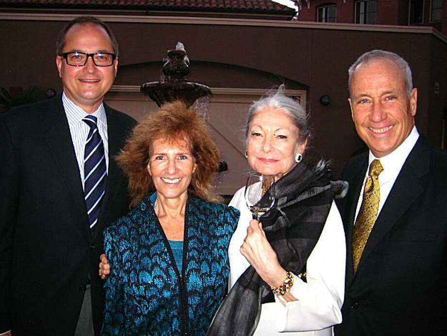 Filmmaker Richard Berge (left) with Mimi Silbert, Denise Hale and KQED CEO John Boland. Photo: Catherine Bigelow, Special To The Chronicle