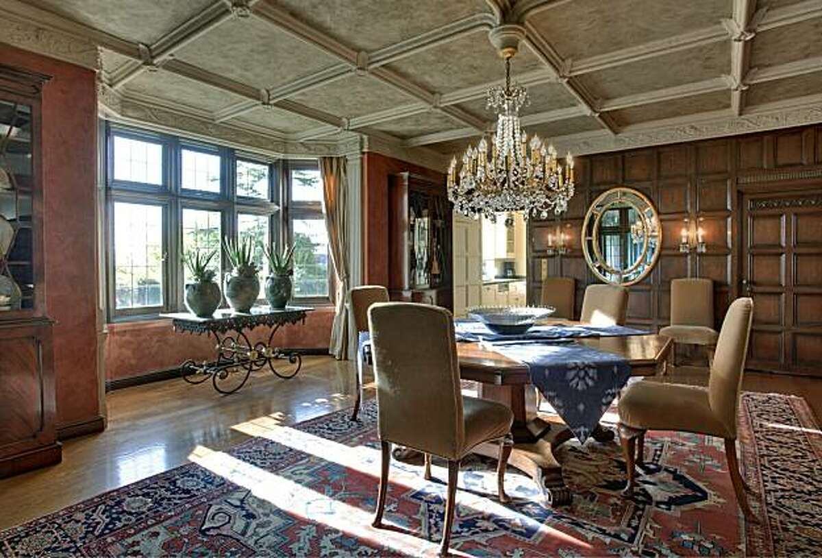 The dining area at 55 Sea View Road in Piedmont, the home of the founder of Otis Spunkmeyer, for the real estate cover.