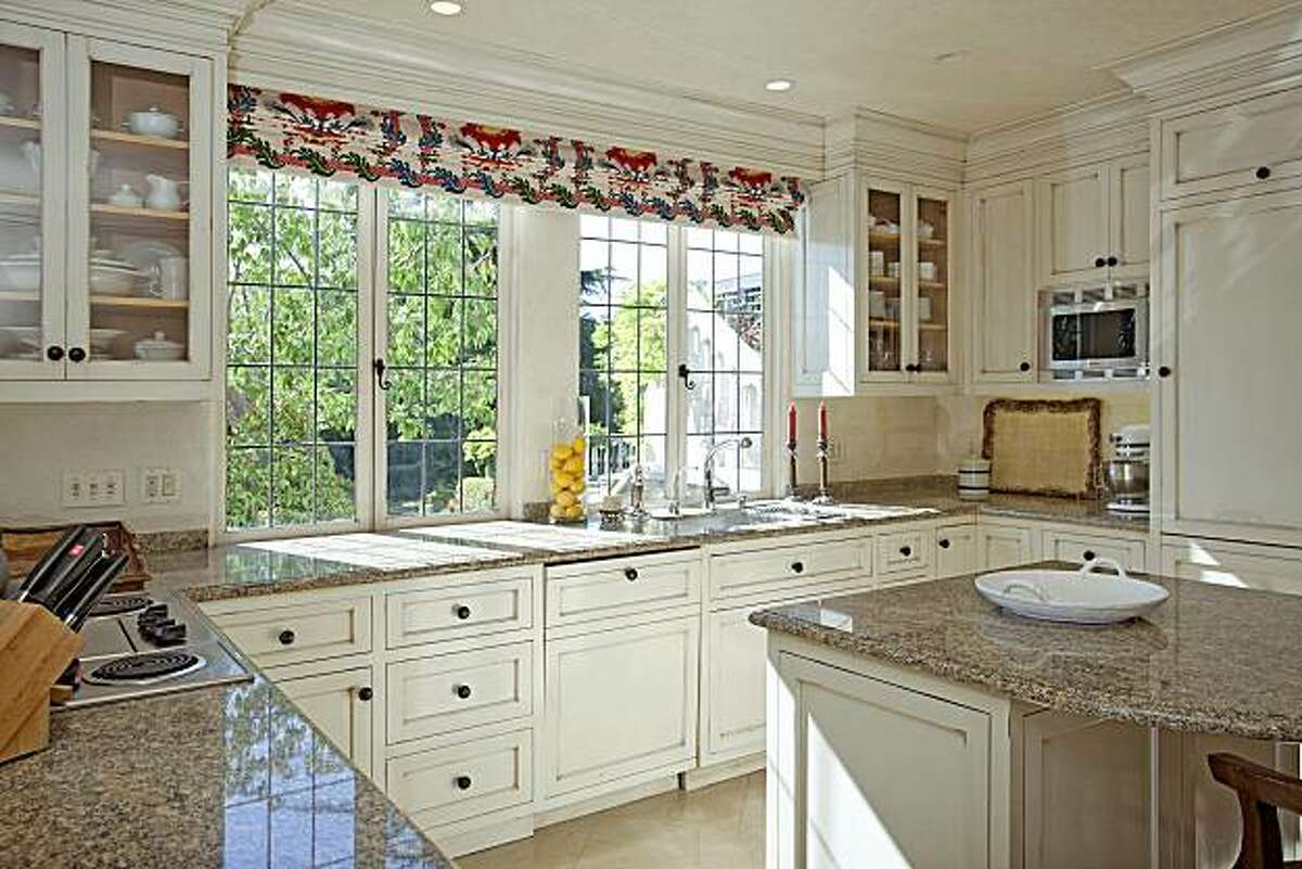 A view of the kitchen at 55 Sea View Road in Piedmont, the home of the founder of Otis Spunkmeyer, for the real estate cover.