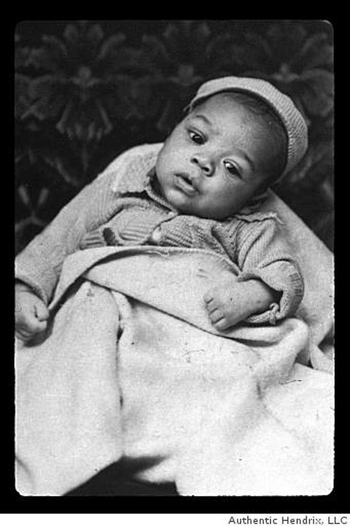 Jimi Hendrix taken on February 20, 1943