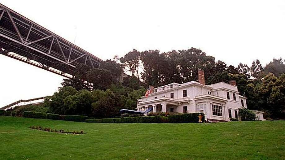 The Nimitz House located beneath the Bay Bridge on Yerba Buena Island in 1996. Photo: Michael Maloney, The Chronicle 1996