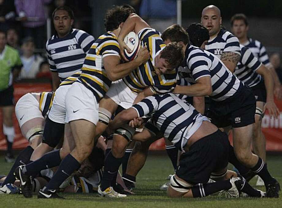 The California Bears on their way to defeating BYU in the USA Rugby National College Championship game on Friday Apr. 30, 2010, in Palo Alto, Calif. Photo: Michael Macor, The Chronicle