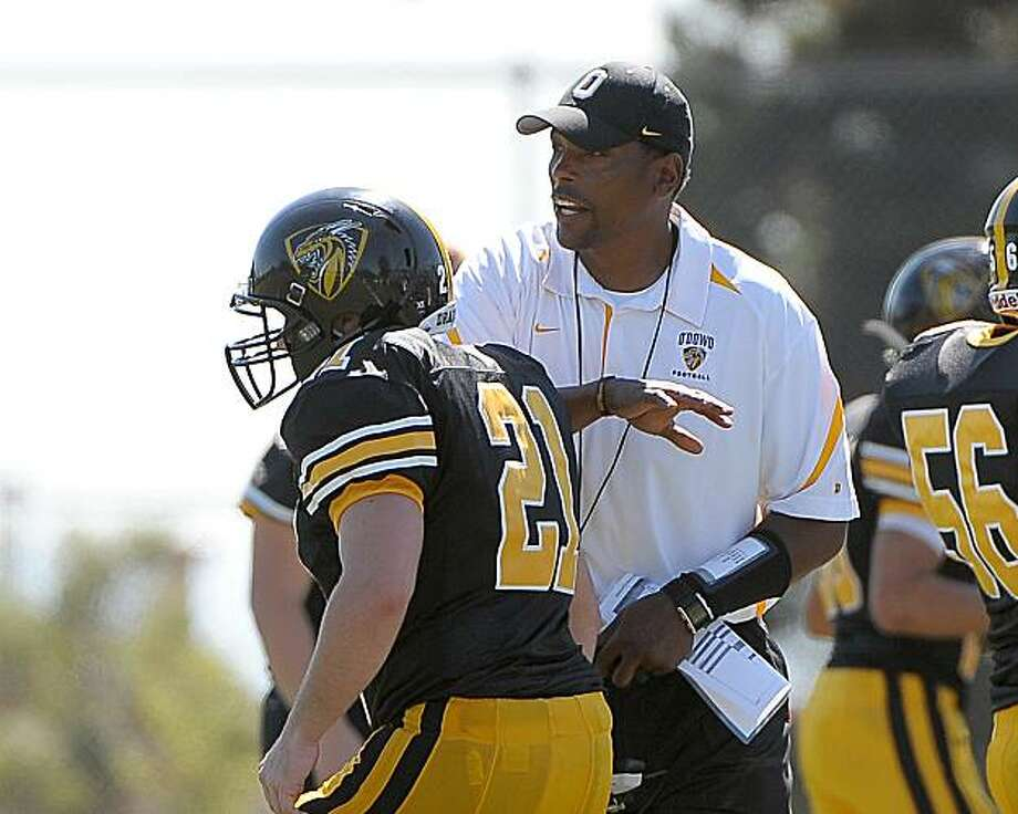 Former Cal and NFL standout Hardy Nickerson is the first-year coach at Bishop O'Dowd high school in Oakland Photo: Gerome Wright