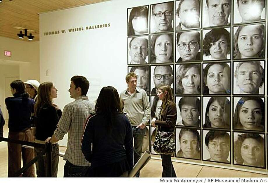 """participants in """"The Gift"""" (2002/2008) an interactive project by Jochen Gerz in """"The Art of Participation"""" at the San Francisco Museum of Modern Art Photo: Winni Wintermeyer, SF Museum Of Modern Art"""