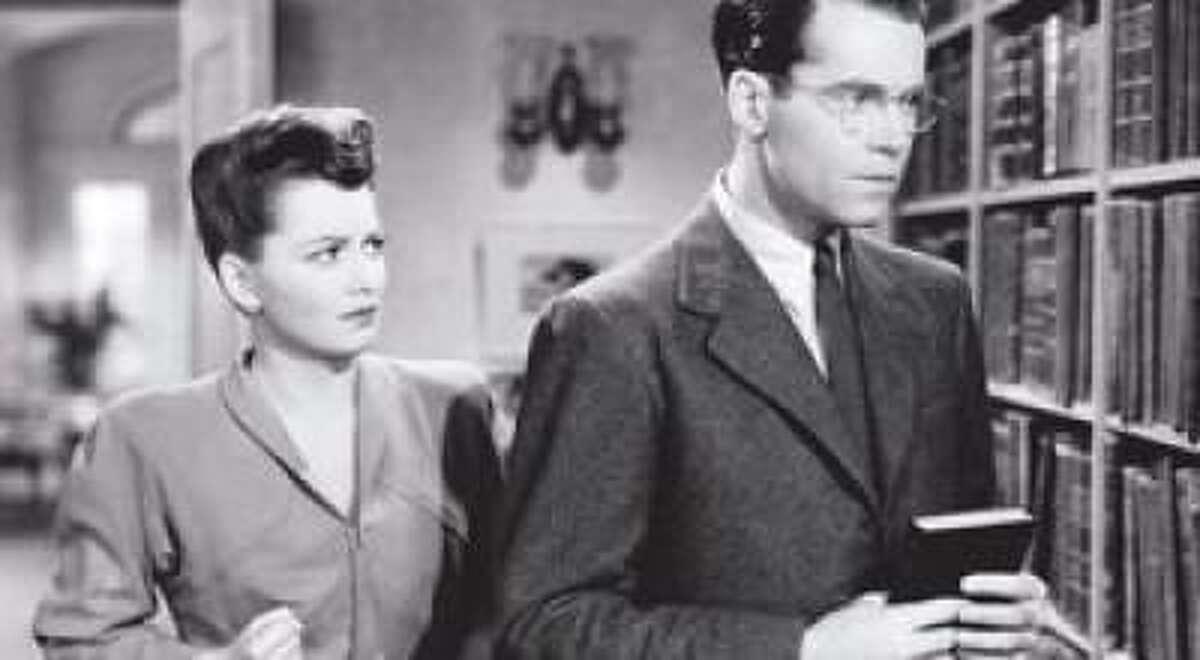 "Olivia de Havilland and Henry Fonda in ""The Male Animal"" (1942)"