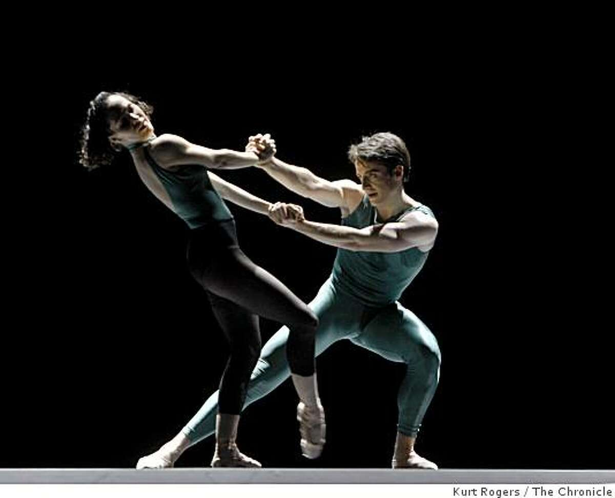 Kristin Long and Pascal Molat dances. In The Middle Somewhat Elevated from Program 2 in a San Francisco Ballet�s dress rehearsal at the War Memorial building.