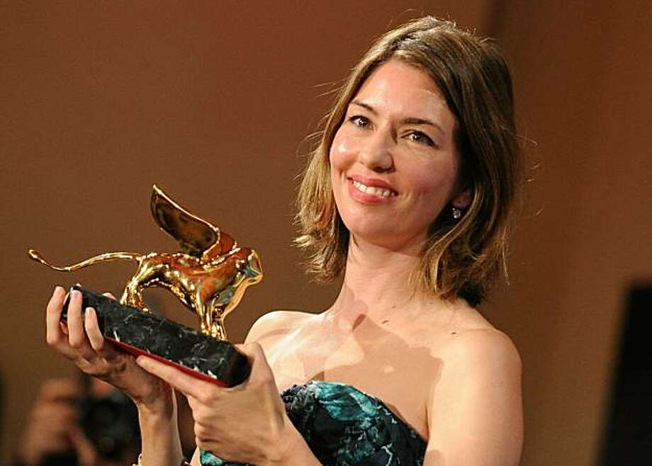 "US film director Sofia Coppola poses after receiving the Golden Lion for the best film for ""Somewhere"" during the awards ceremony of the 67th Venice film festival on September 11, 2010. Photo: Alberto Pizzoli, AFP/Getty Images"