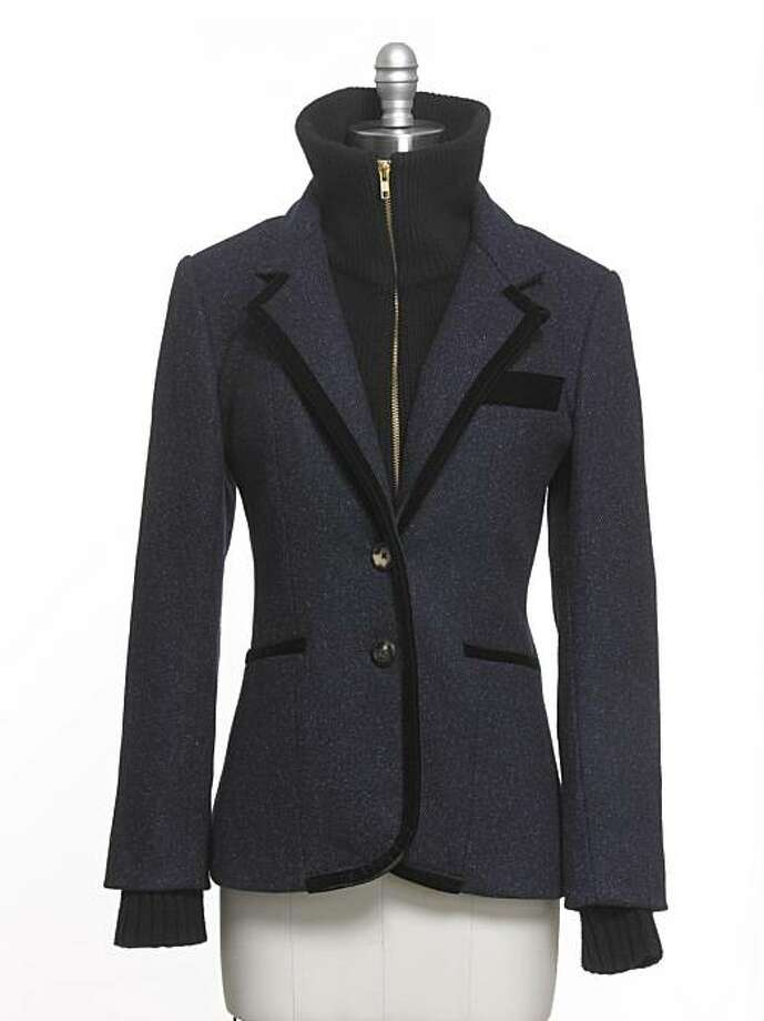 A new line of sportswear, Veronica Beard, launched in February 2010 and is carried by Wilkes Bashford in San Francisco. This year's featured piece is a jacket and dickey combination that offers classic tailoring and a slight bohemian edge. Four dickeys are available. Jacket prices range from $805 to $1,035. Photo: Courtesy Veronica Beard