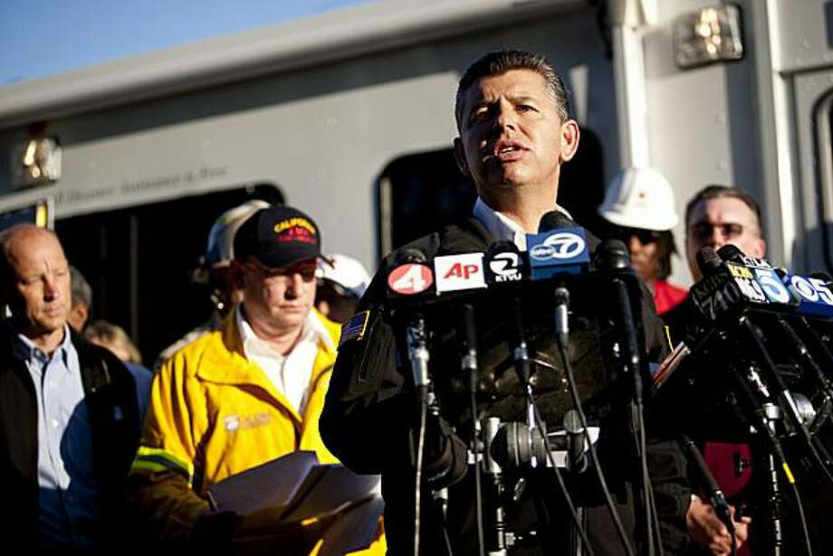 SAN BRUNO, CA - SEPTEMBER 10: Lt. Governor Abel Maldonado speaks at a press conference September 10, 2010 in San Bruno, California. A massive explosion rocked a neighborhood near San Francisco International Airport, destroying 53 homes, killing at least 4people, and injuring more than 50. Photo: Max Whittaker, Getty Images