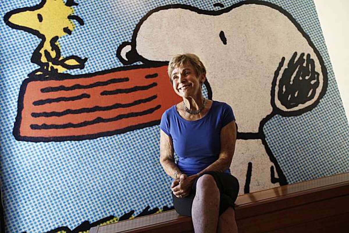 Jeannie Schulz smiles as she recalls the reaction of people to their Peanuts museum. Jeannie Schulz, the widow of Charles Schulz, is the energetic ambassador of the Schulz Museum in Santa Rosa, Calif. and everything Peanuts Tuesday August 31, 2010.