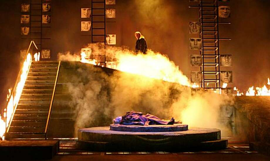 "Wagner's ""Die Walküre"" at San Francisco Opera The Washington National Opera ""American Ring"" production of the Wagner opera ""Die Walkure"" directed by Francesca Zambello with Placido Domingo, Anja Kampe, Linda Watson, Alan Held, Elena Zaremba and Gidon Saks. Photo: Karin Cooper"
