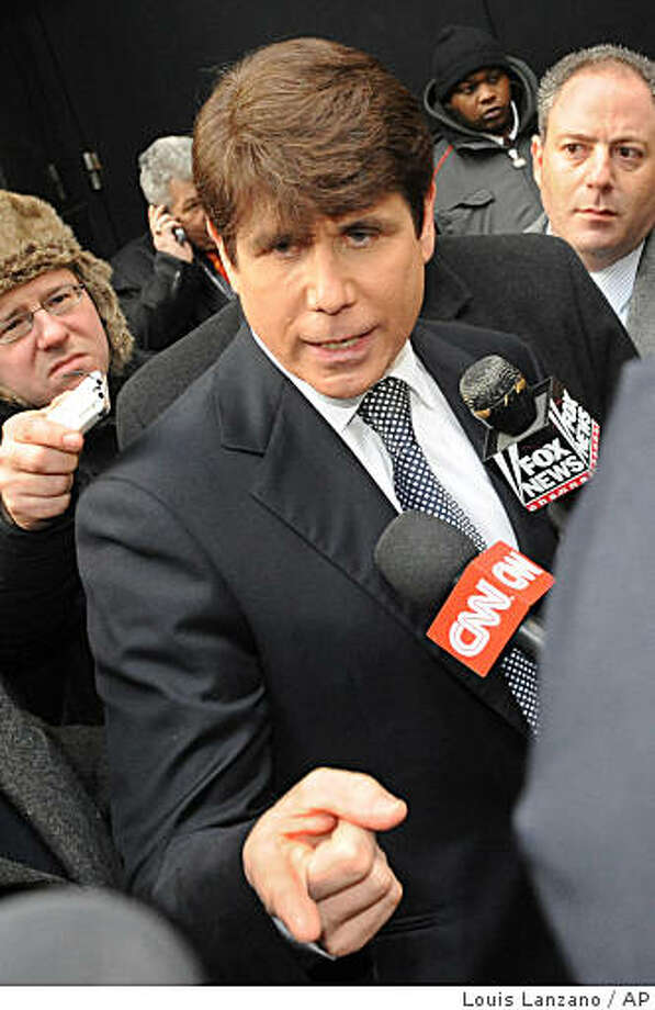 "Illinois Gov. Rod Blagojevich exits the building after appearing on the ""Good Morning America"" TV show, Monday, Jan. 26, 2009, in New York.  (AP Photo/ Louis Lanzano) Photo: Louis Lanzano, AP"