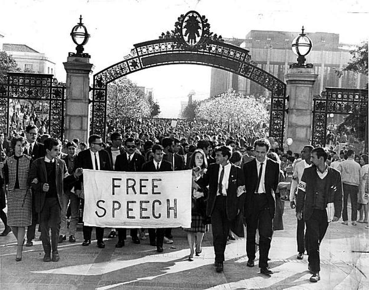 Free Speech March on UC Berkeley campus May 30, 1965. Photo by Chris Kjobech