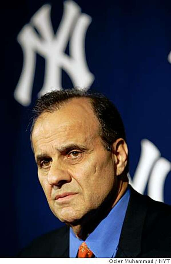 New York Yankees manager Joe Torre at a news conference at Yankee Stadium in New York on Tuesday, Oct. 10, 2006. Torre will remain as manager, finally getting the word from owner George Steinbrenner after the team's surprise elimination from the playoffs last weekend. (Ozier Muhammad/The New York Times) Ran on: 10-11-2006 Joe Torre will be back as manager of the Yankees next season, his 12th with the team. Photo: Ozier Muhammad, NYT