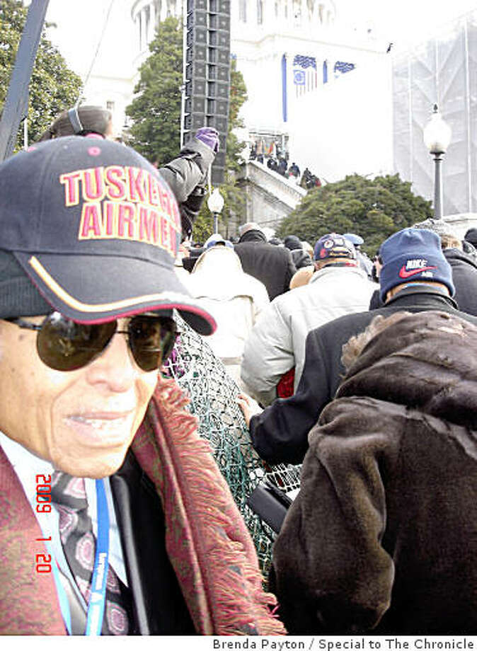 James B. Williams, a Tuskegee Airman, attended Barack Obama's inauguration on Tuesday with other members of the Airmen and his daughter, Brenda Payton. Photo: Brenda Payton, Special To The Chronicle