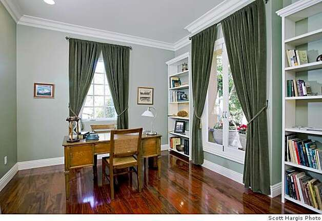 Office at 65 Southampton Ave., a new house on the market for $1.98 million in North Berkeley. Owner/builder claims it's built so robustly it will withstand a major earthquake and that it's so energy efficient the electric meter will run backwards. Photo: Scott Hargis Scott Hargis, Scott Hargis Photo