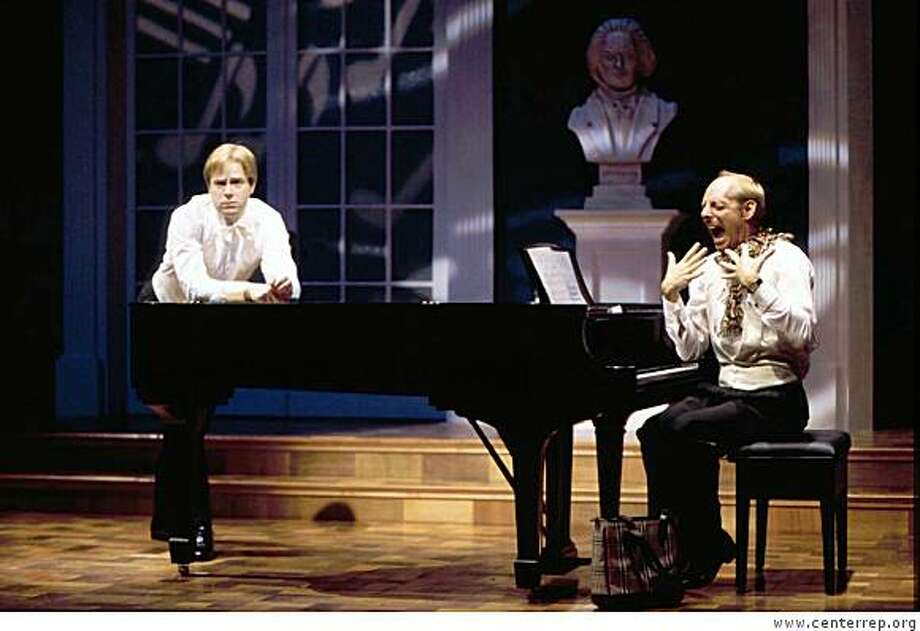 "Mark Anders (left) and Carl J. Danielsen star in ""2 Pianos, 4 Hands"" at CenterRep in Walnut Creek (2009). Photo: Www.centerrep.org"