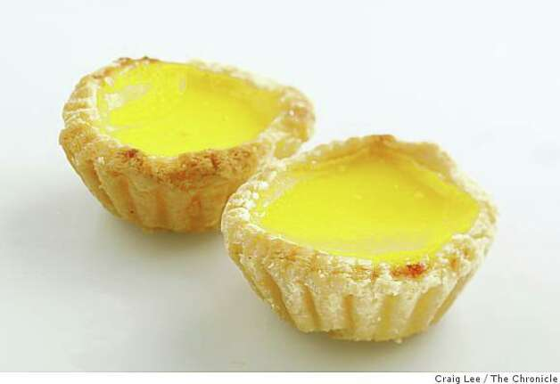 Egg custard tartA traditional sweet ending to the dim sum meal that consists of a flaky or short dough crust baked with a buttery, egg custard filling. Photo: Craig Lee, The Chronicle
