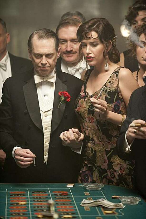 BOARDWALK EMPIRE: Steve Buscemi, Paz de la Huerta. Photo: Abbot Genser, HBO
