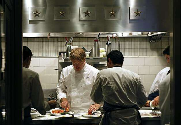 French Laundry Chef de Cuisine, Timothy Hollingsworth works to create an once-in-a-lifetime dining experience at this three Michelin star restaurant. Saturday August 21, 2010, as he and his team plate sweet butter-poached main lobster tail, one course of thirteen. Photo: Lance Iversen, The Chronicle
