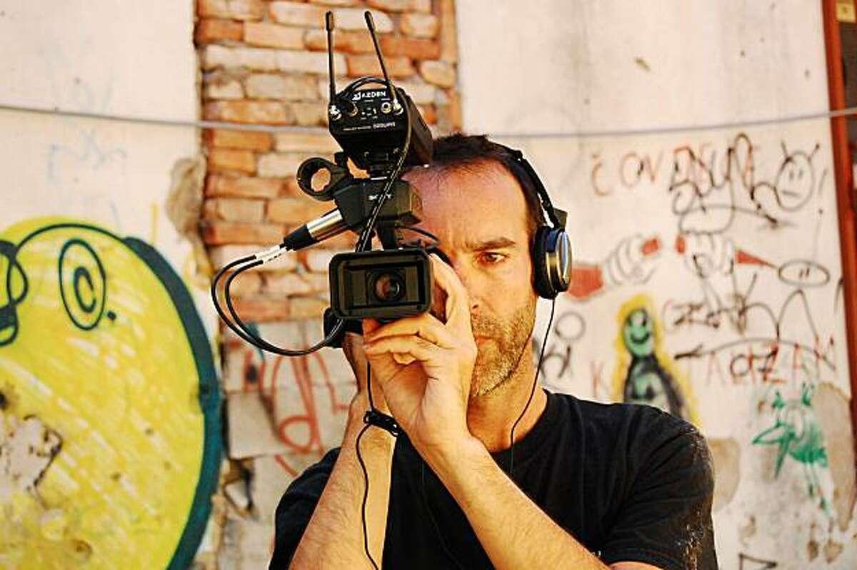 Filmmaker Steve Nemsick on location in Mostar, Bosnia-Herzegovina, 2009. photo credit - Harun Hasangic