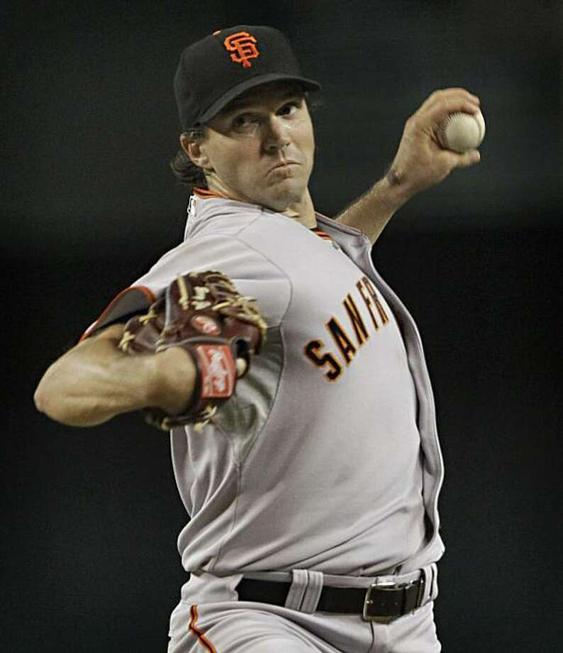 San Francisco Giants starting pitcher Barry Zito delivers against the Arizona Diamondbacks during the third inning of a baseball game Wednesday, Sept. 8, 2010, in Phoenix. Photo: Matt York, AP