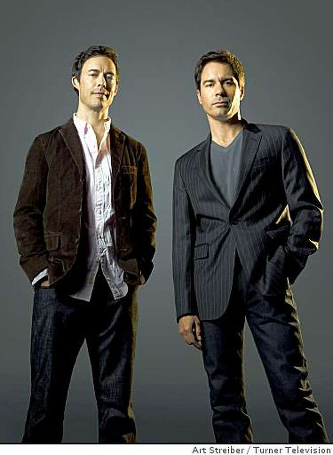 "Tom Cavanagh and Eric McCormack in TNT's ""Trust me."" Photo: Art Streiber, Turner Television"