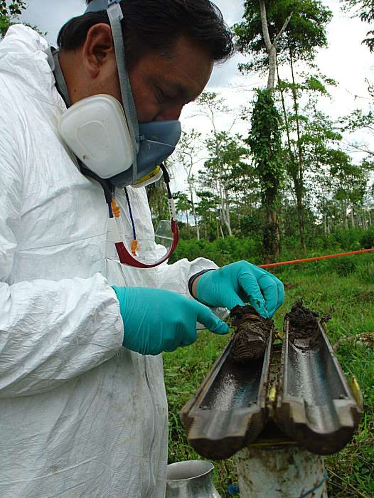 Soil samples at this location in Ecuador were the subject of a 2004 contamination report that Chevron says was falsified.