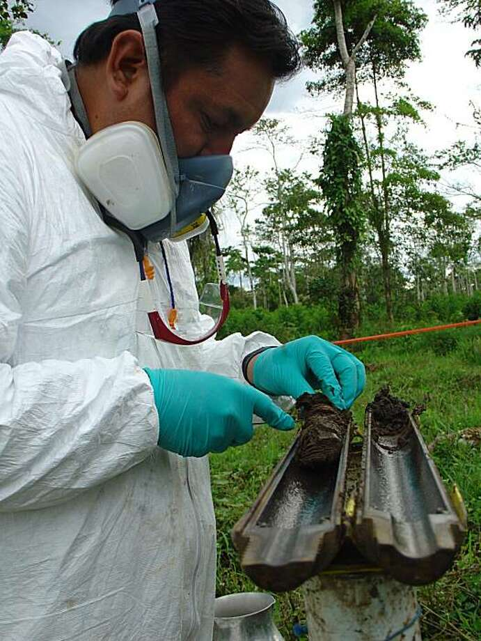 Soil samples at this location in Ecuador were the subject of a 2004 contamination report that Chevron says was falsified. Photo: Chevron Corp