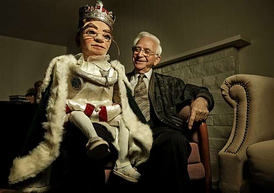 "Bruce Sedley with one of his puppets, ""King Fuddlez"". Sedley, on Wednesday Sept. 8, 2010, in Lafayette, Calif., the former host of a much loved children' s show in the late 1950's and early 1960's. Known as Sir Sedley, he worked with puppets, on local television channels KTVU and KRON TV. Photo: Michael Macor, The Chronicle"