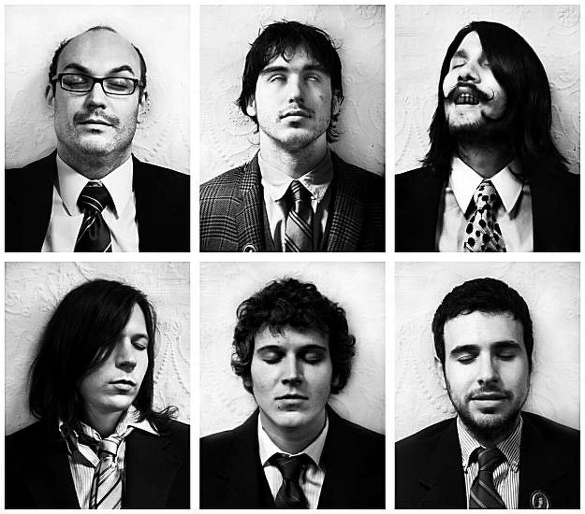 Maus Haus is (clockwise from top left) Aaron Weiss, Sean Mabry, Tom Hurlbut, Joe Genden, Josh Rampage, Jason Kick.