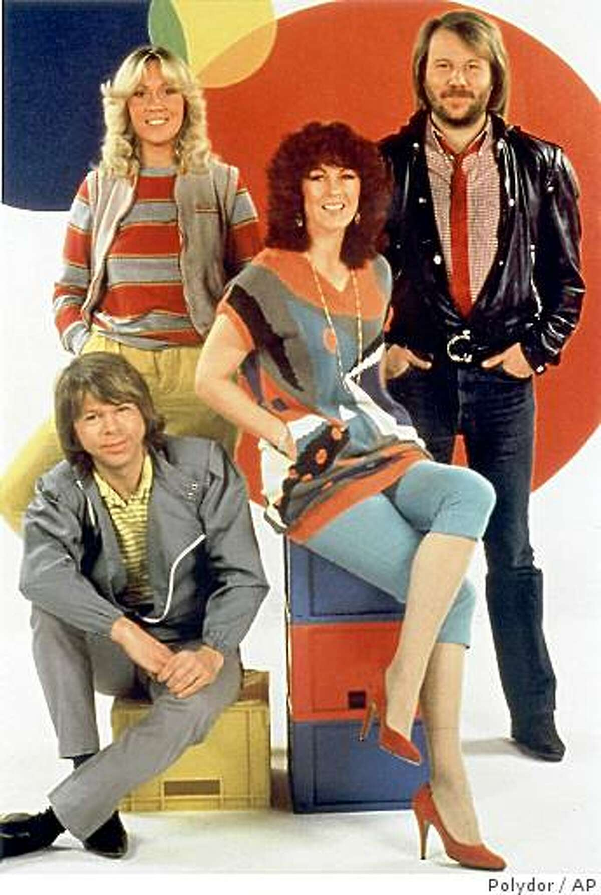 Abba, from left to right, Bjoern Ulvaeus , Agnetha Faltskog, Anni-Frid Lyngstad and Benny Andersson are seen in this undated file photo originally from Polydoor Records.. An ABBA museum dedicated to the music, clothing and history of the Swedish pop group will open in Stockholm in 2008, organizers said Tuesday, Nov. 28, 2006. The group hasn't performed together since 1982.